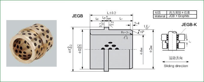 JEGB Oilless Ejector Guide Bushes