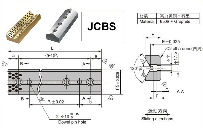 JCBS Oilless Cam Side Block